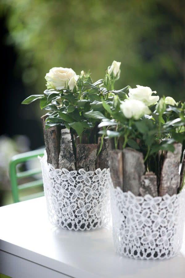 Розы в горшках - составные